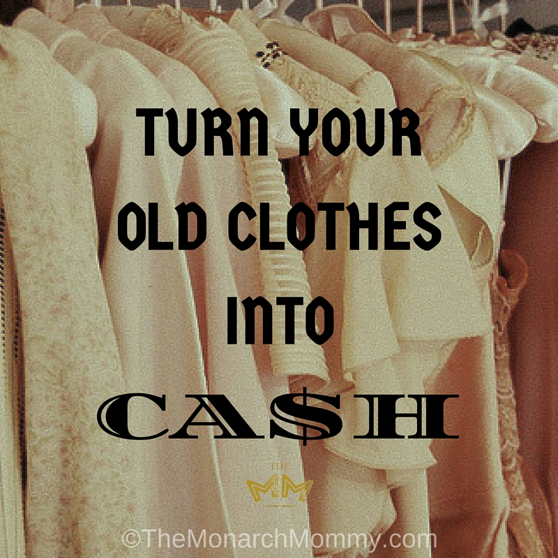 How to turn your old clothes into cash!
