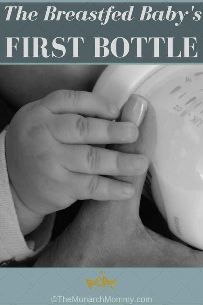 The Breastfed Baby's First Bottle #LoveIsInTheDetails