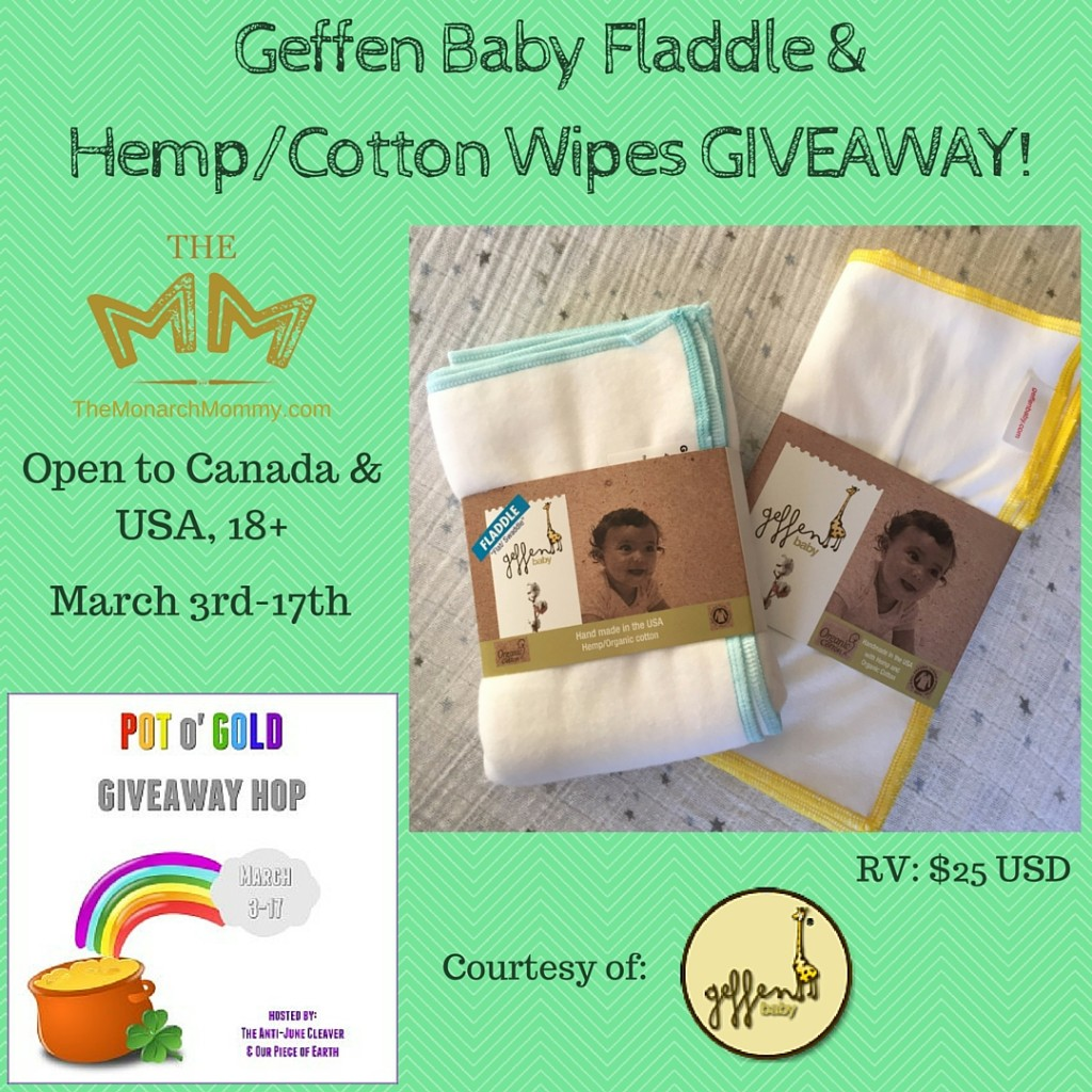 Geffen Baby Fladdle & Hemp-Cotton Wipes Review