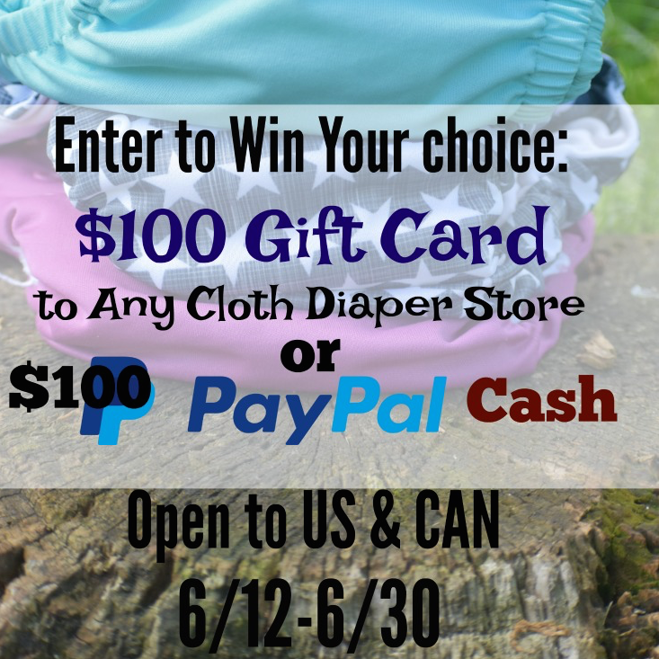 Win $100 To Shop At Your Favourite Cloth Diaper Retailer!