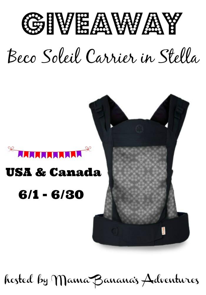 Beco soleil Stella giveaway Pinterest