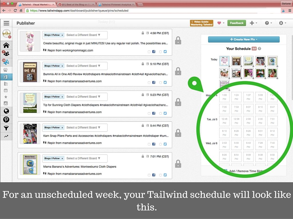 How To Schedule One Week of Pins in Five Minutes with Tailwind