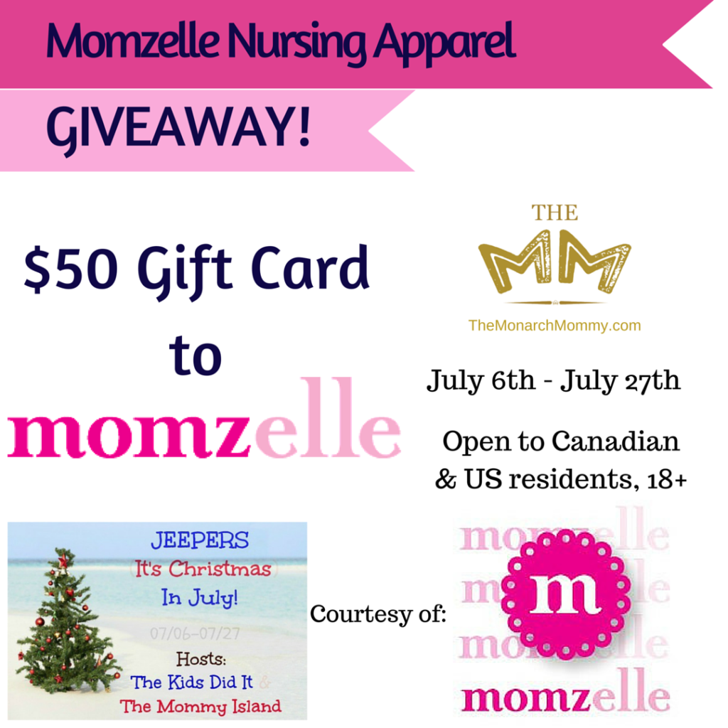 Momzelle Nursing Apparel Giveaway