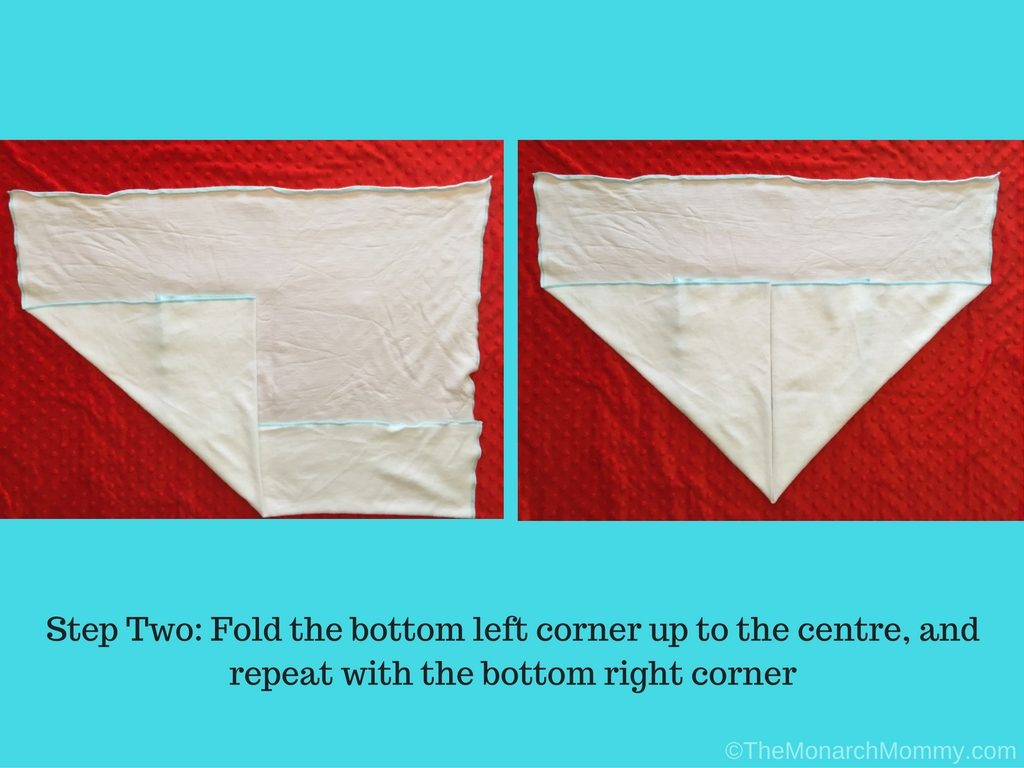 Folding Flat Diapers: The Airplane Fold
