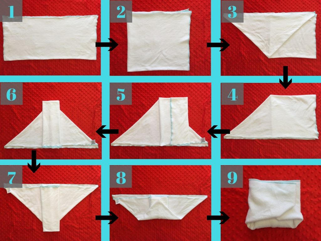 Folding Flat Diapers: The Origami Fold