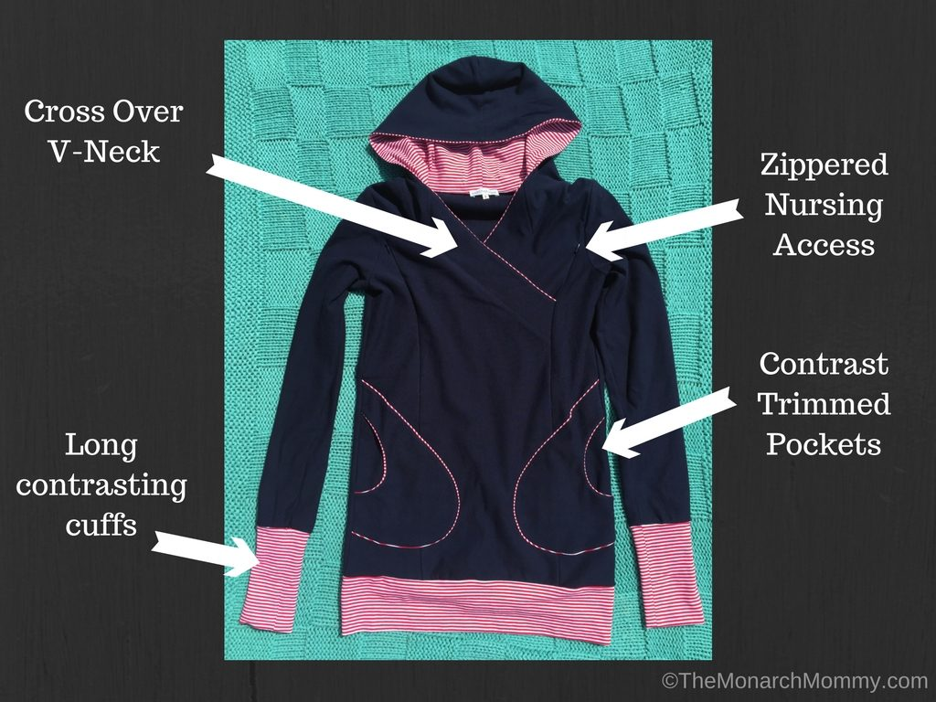 Comfort and Style with Viva La Mama's Milchshake Nursing Hoodie