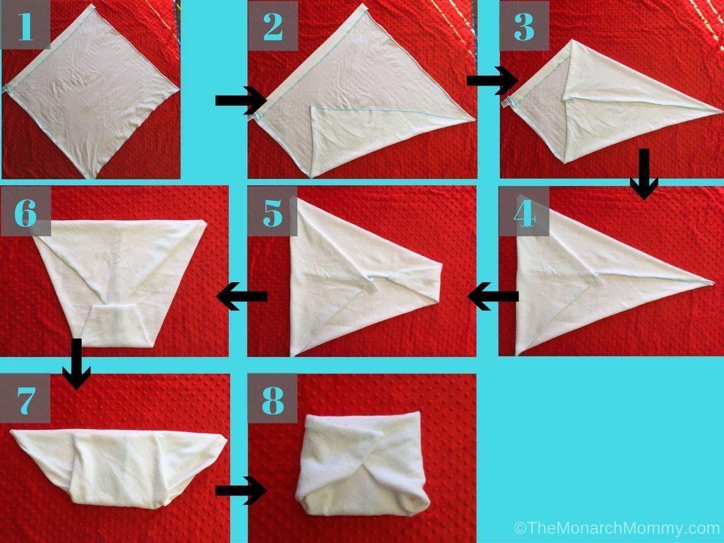 Folding Flat Diapers: The Kite Fold