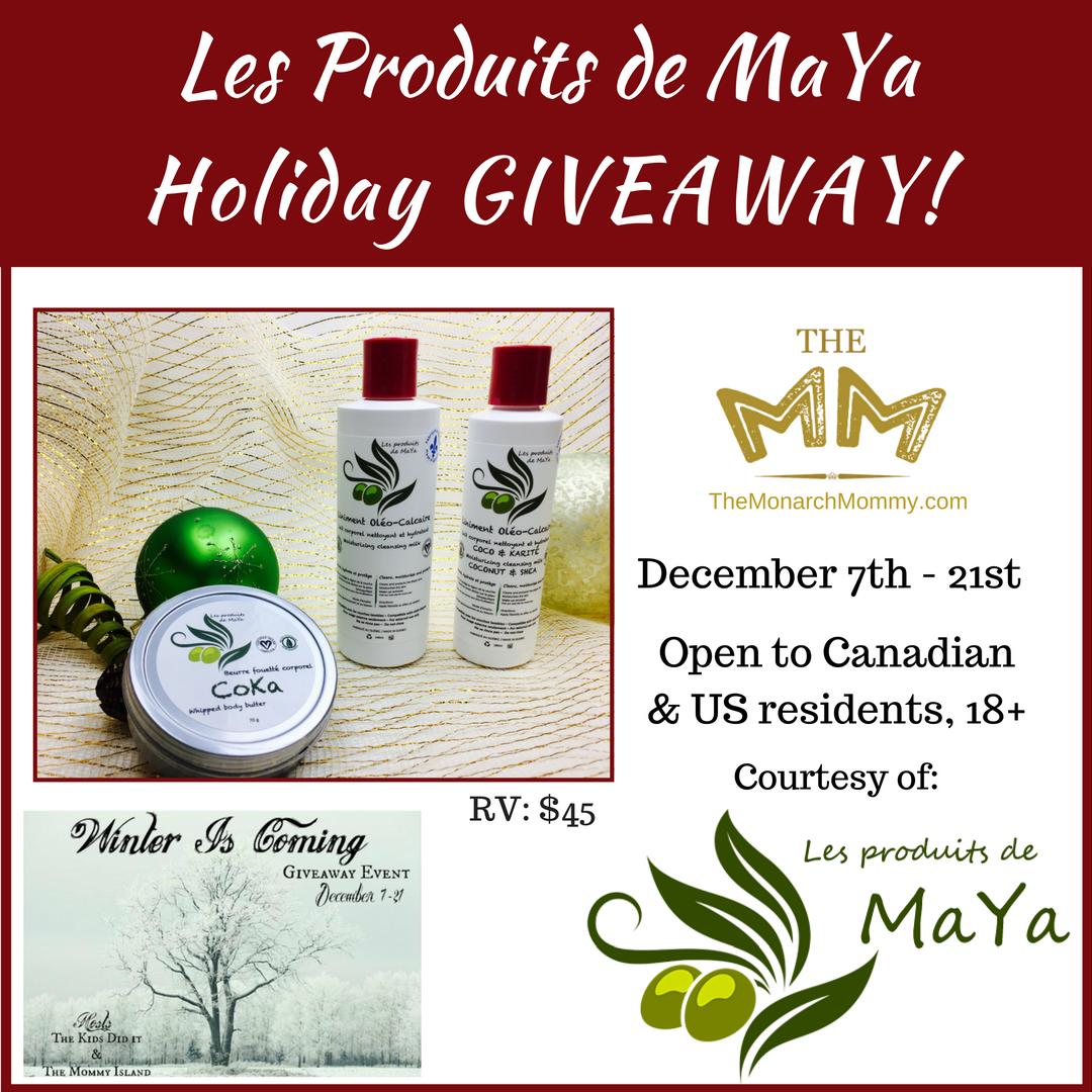 Les Produits de MaYa Holiday Giveaway