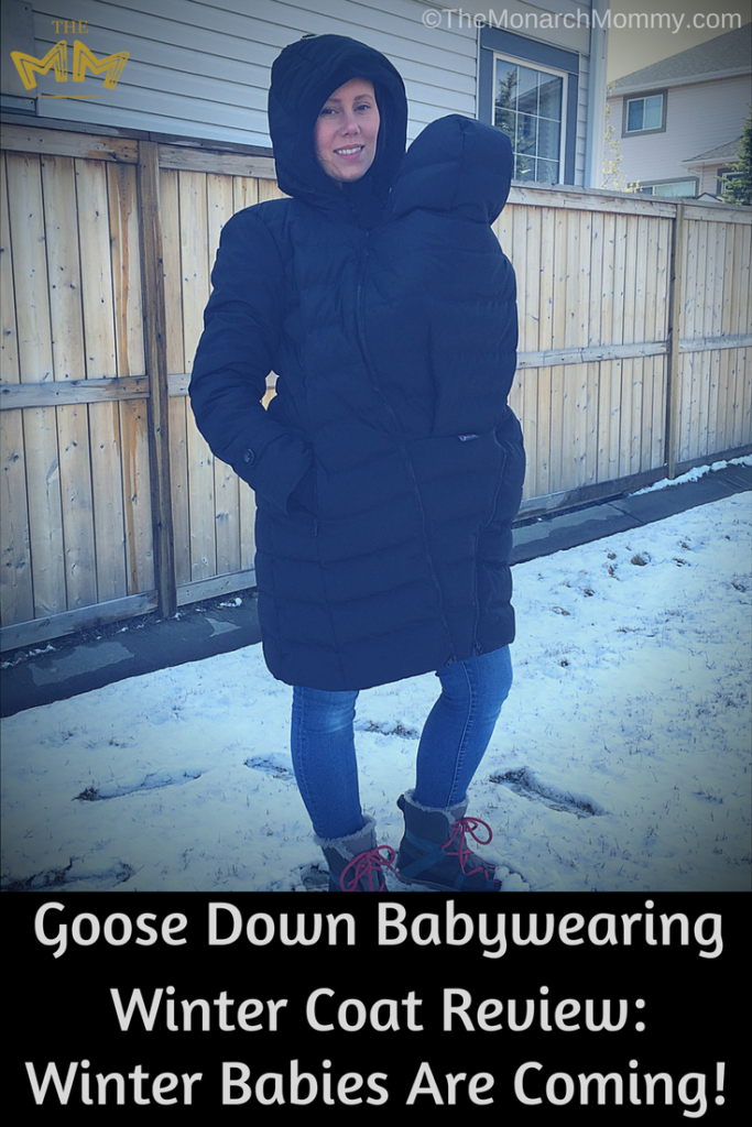 3470e9bac5ac Goose Down Babywearing Winter Coat Review  Winter Babies Are Coming ...