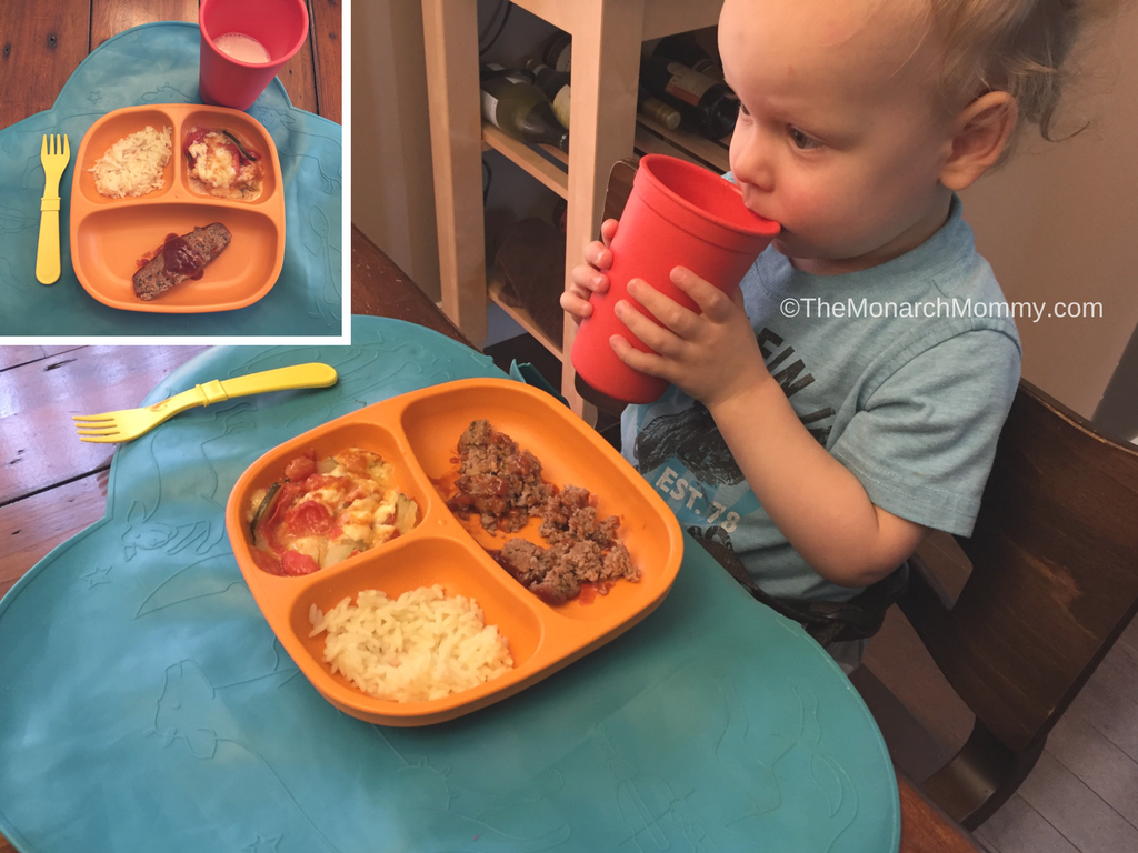 Toddler Meal Time Fun with Replay Recycled